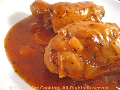 Chicken Thighs in White Wine and Balsamic Vinegar
