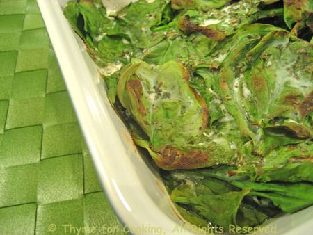 Baked Spinach with Goat Cheese