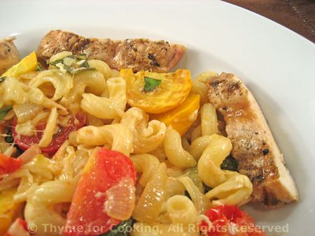 Pasta with Courgette and Grilled Chicken
