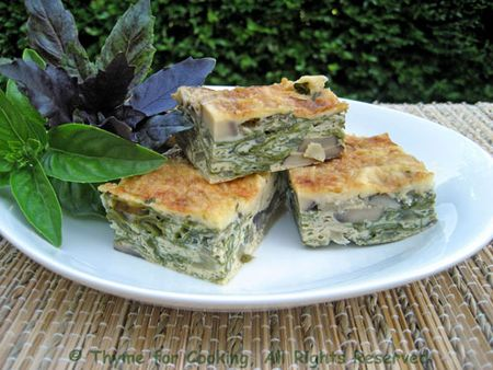 Mushroom, Chard and Cheese Bars