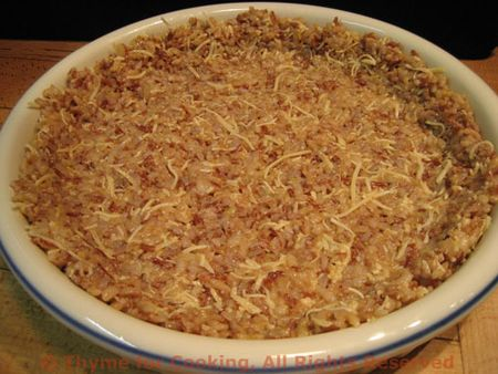 Brown Rice Quiche Crust