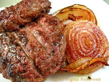 Grilled Dijon Burgers with Sweet Onions