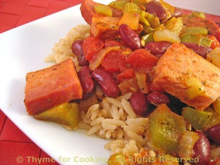 Spicy Ham and Red Beans with Rice