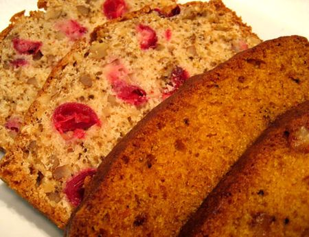 Pumpkin Bread; Cranberry Bread