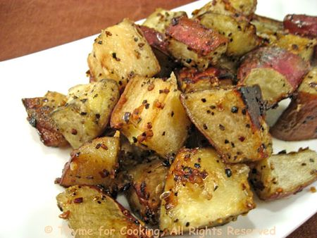 White Sweet Potatoes, Roasted