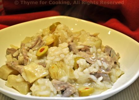 Risotto with Duck and Artichokes