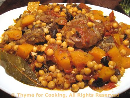 Lamb Tagine with Chickpeas and Butternut Squash