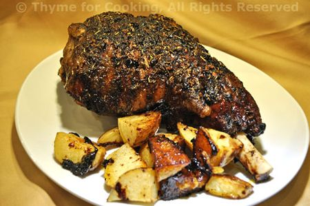 Slow Roasted Moroccan Leg of Lamb