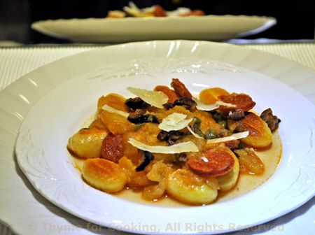 Gnocchi with Chorizo and Capers