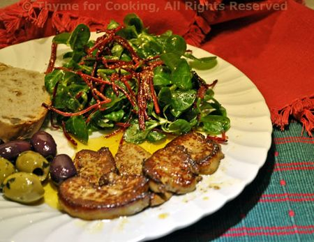 Pan-Seared Foie Gras with Salad