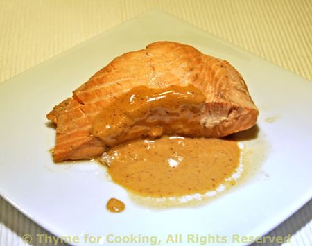 Red Cooked Salmon with Peanut Sauce