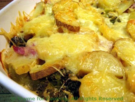 Gratin Of Shredded Potatoes With Ham And Eggs And Onions Recipes ...