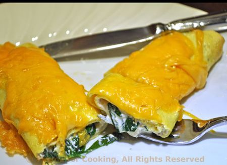 Egg Crepes with Spinach