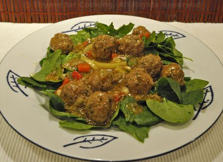 Lemon Meatball Salad