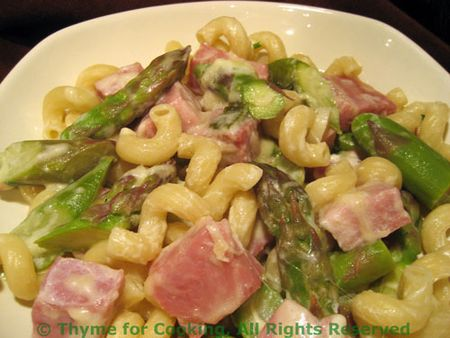 Pasta Ham and Asparagus