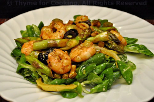 Shrimp and Asparagus Salad with Preserved Lemon; moving day - Thyme ...
