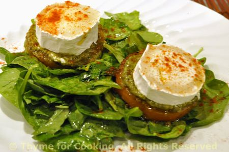 Chevre-Honey-Pesto-Salad