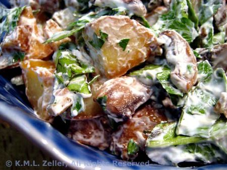 Potato Salad with Chevre and Mushroomschevreaug