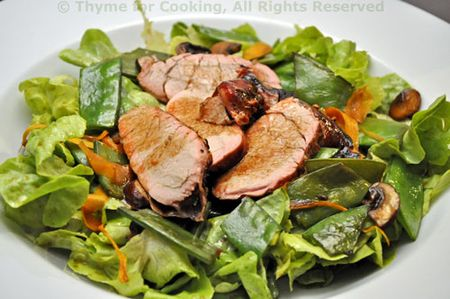 Salad with Pork, Snow Peas