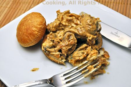 Pastry with Mushrooms, Chevre