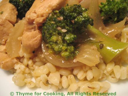 Chicken broccoli on Barley