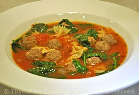 Meatball Spinach Soup