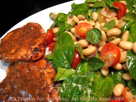 Pork Chops with Spinach