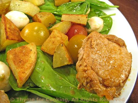 Spinach with Pork and Potatoes