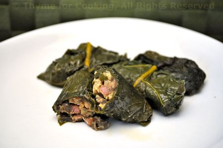 Chard stuffed with Mushroom