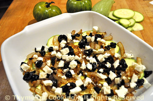 Green Tomato and Zucchini Bake - Thyme for Cooking, Blog