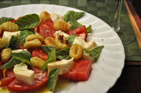 Caprese Salad with Gnocchi