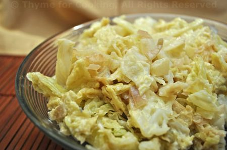 Creamed Cabbage with Hot Mustard