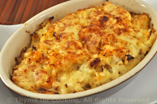 Cauliflower Gratin; Bonnie, the new Bunny-Slayer - Thyme for Cooking ...