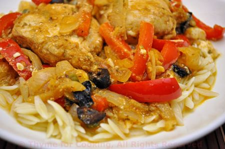 Greek Chicken on Orzo