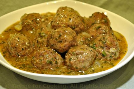 Meatballs with Preserved Lemon