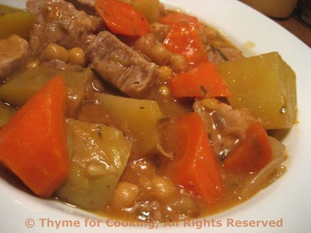 Pork and Chickepea Stew