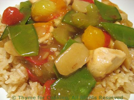 Stir-fry Chicken with Snow Peass