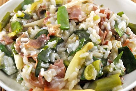 Spring Risotto with Ham