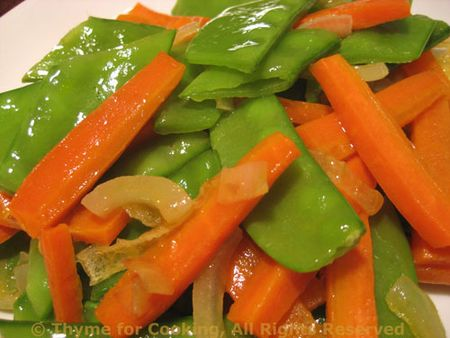Stir-Fried Peas and Carrots