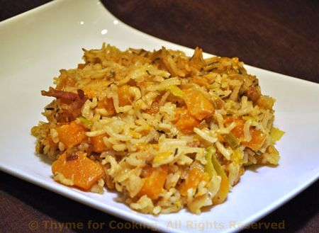 Butternut Squash and Rice