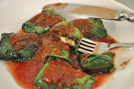 Stuffed Chard Leaves