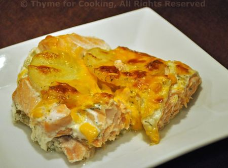 Salmon Potato Gratin