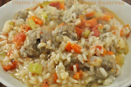 Risotto with Meatballs
