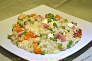 Risotto with Ham and Feta