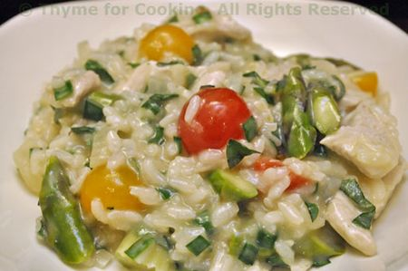 Risotto with Asparagus and Tomatoes