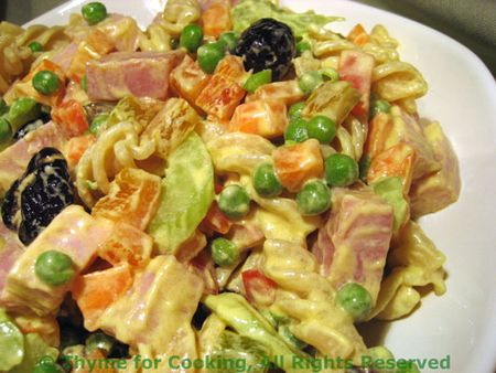 Ham and Pea Pasta Salad