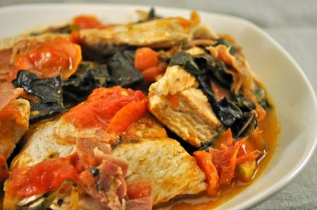 Turkey with Chard