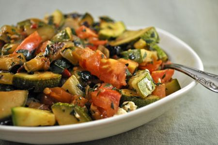 Zucchini with Tomatoes