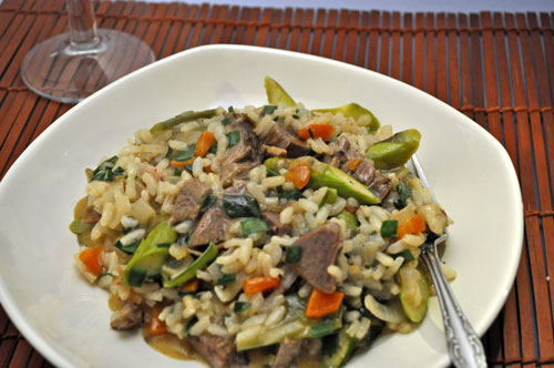 Lamb and Asparagus Risotto