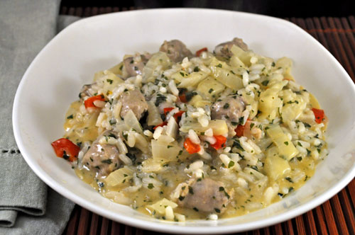 Risotto with Sausage and Fennel